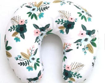 Floral Boppy cover Boppy cover Iviebaby designs  Baby shower gift  Boppy Pillow Cover Nursing pillow Cover