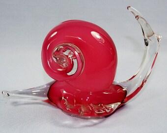 Italian Art Glass Sculpture Snail