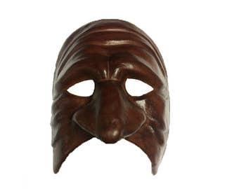 Pantalone Leather Commedia dell'Arte Mask