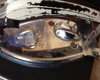 Vintage Folding Travel Iron with Original Bag and Plug