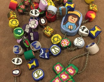 Colorful Handmade Clay Rosary