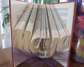 Custom Name Folded Book