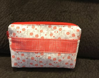 Small Quilted multi purpose bag, fits perfect in a purse.