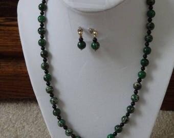 Australian Jasper Necklace & Earrings