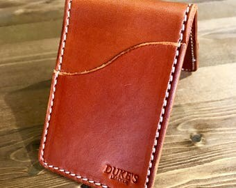 Handmade English Bridal Full Grain Leather Slim wallet