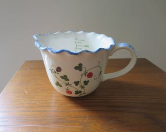 Vintage Cote Basque Ceramic Mann Measuring Cup
