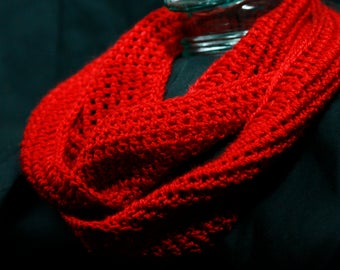 Hot Red Infinity Scarf