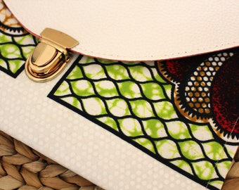 Ankara Bag, removable gold straps, day or evening wear, Fruits of Love