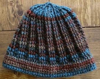 Multicolored Striped Stitch Hat
