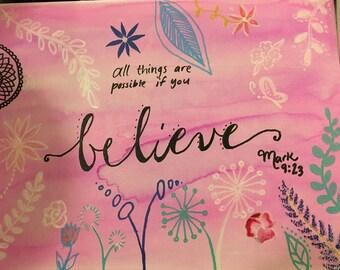 Mark 9:23 Canvas art
