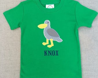 Seagull Appliqué Shirt, beach shirt