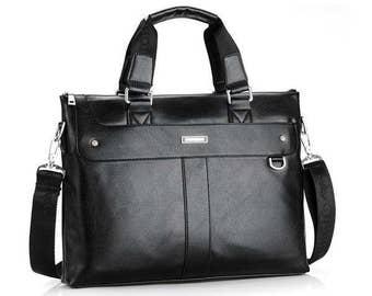 Men Vintage Casual Shoulder Messenger Bag Business Briefcase Computer Laptop Handbag