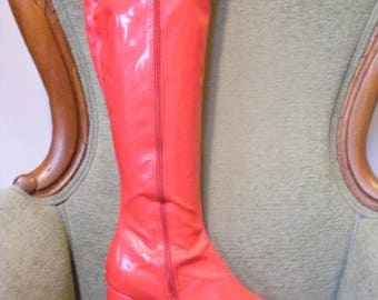 Women's Go Go Boots Red Size 11
