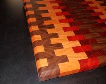 Solid Hardwood End Grain Cutting Board