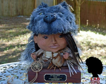 ONE Native American Healer Sculpture