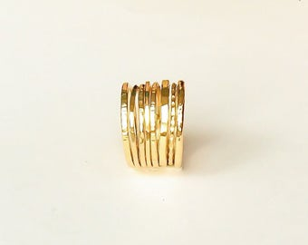 Set of gold stacking rings | 14k gold filled