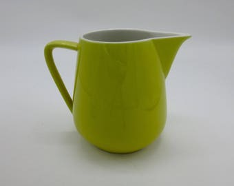 Retro Villeroy and Boch Small Pitcher Made in Luxembourg Yellow/Green Chartreuse