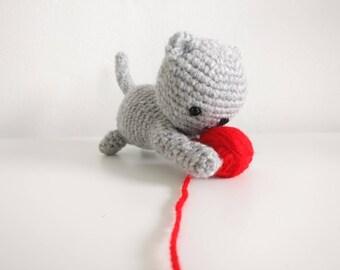 Crochet Kitten with wool