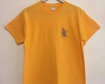 Floral Gold Tshirt in Medium