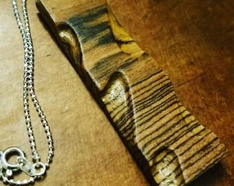 Zebra wood pendant