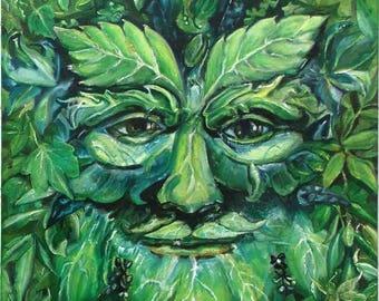 Green Man Limited Edition Print