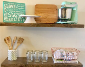 Floating Shelves // Modern Shelves // Rustic Shelves // Built to Order Wood Shelve
