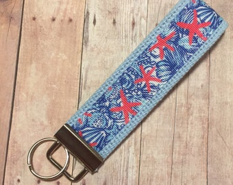 Lilly Pulitzer Inspired Key Fob Wristlet