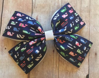 "4"" Vineyard Vines Inspired Bow"