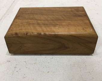 Real wood storage box