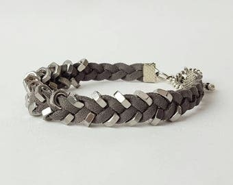 Women's Casual Suede Braided Bracelet