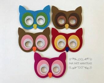 Owl Masks, Owl Birthday, Kids Animal Masks, Owl Party, Owl Baby Shower, Owl Party Decorations, Owl Party Favors, Animal Party Favors