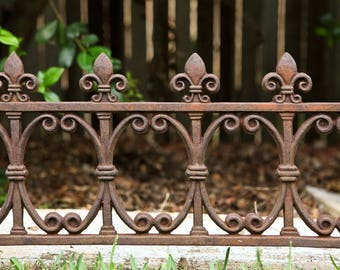 Antique Victorian Cast Iron Garden/Fence Railings