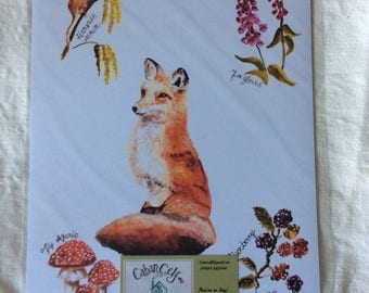 A4 print of original watercolour painting of a fox.