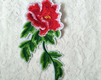 Embroidery applique with adhesive/embroidery flower patches