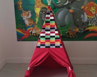 Teepee - Play tent - Children's play tent - Children's reading tent - Children's den - Children's Teepee