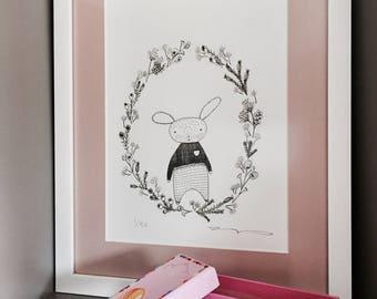 baby nursery/animal illustration/baby room art/nursery decor/baby animal prints/kids room