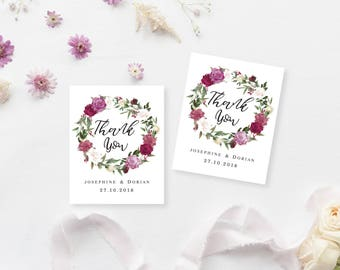Printable Gift Tags | Customised Favour Tags | Wedding Thank You Tags | DIY Printable Gift Tags | Romance