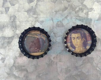 Black Bottlecap Magnets