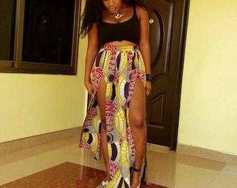 Maxi Skirt, African clothing, African skirt, ankara pants, ankara bag, Ankara fabric, ankara clothes, ankara tops,dress, african maxi skirt