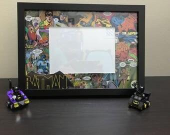 Comic Book Photo Frame - Batman DC / Superman - Decoupage