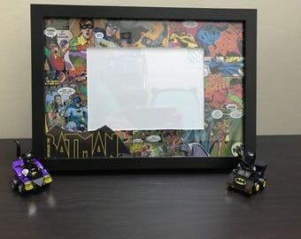 Comic Book Photo Frame - Batman DC / Superman / Batgirl / My Little Pony Decoupage