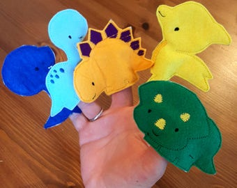 Dinosaur Finger Puppet, Dinosaurs,Dino, Kids,Toddler,Embroidered Puppets,Teachers Help,Nursery,Early Years,Educational Toy