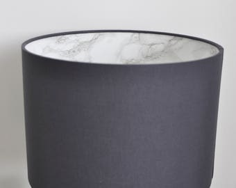 SALE: Grey lampshade with marble interior