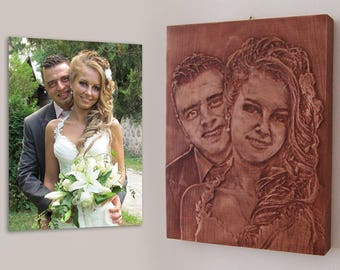 Wooden Picture from photo