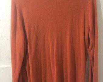 Retro Allison Daley Orange Sweater