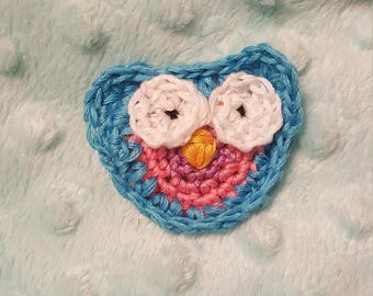 Owl Hair Clip owl hair barrette owl clip owl barrette crochet owl clip crochet barrette crochet owl barrette free shipping crochet gift