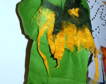 XXL felt scarf Green