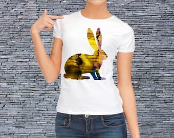 Fashion T-shirt - Rabbit T-shirt - Women's t-shirt