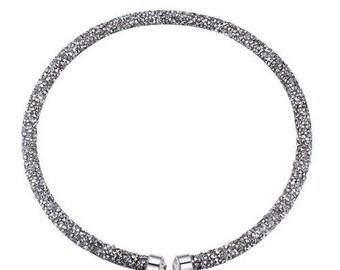 Austrian crystal necklace silver
