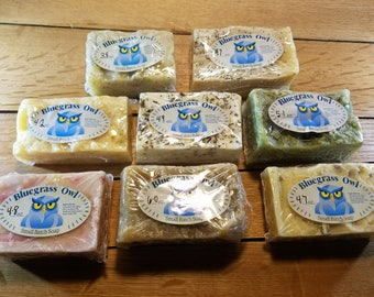 Handmade,Handcrafted soap. Cold process all natural with coconut oil, olive oil, avocado oil and essential oils.